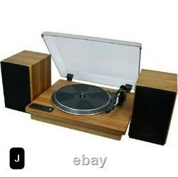 12 inToshiba Vinyl Record Player Turntable. 3 Speed Bluetooth Turntables, Stereo