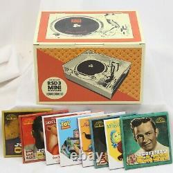 3 CROSLEY RSD3 MINI TURNTABLE 4 Johnny Cash 4 Disney Records Sealed