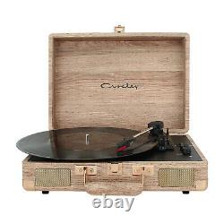 3-Speed Portable Crosley Wood Record Player Bluetooth Speakers Stereo Turntable