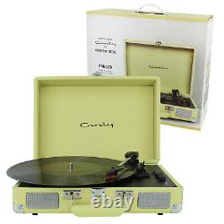 3-Speed Record Player Crosley Green Portable Turntable Bluetooth Stereo Speakers