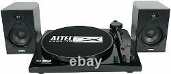 Altec Lansing Refurbished ALT-900 2 Speed Black Vinyl Record Player with Speakers