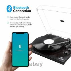 Angels Horn Bluetooth Turntable Record Player 2-Speed Classic Play Music Speaker