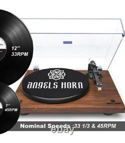 Angels Horn Turntable Vinyl Record Player WithPhono Preamp, Belt Drive, AT-3600L