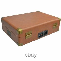 Aria Retro Turntable with Bluetooth Speaker/AUX/USB Direct Recording Briefcase