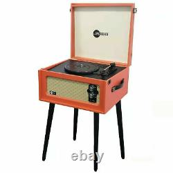 Arkrocket Bluetooth Record Player Retro Portable Turntable With removable legs