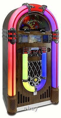 Arkrocket Retro Jukebox Record Player Bluetooth CD Radio Full Size SATURN V 51