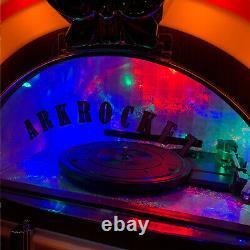 Arkrocket Retro Jukebox Vinyl Record Player Bluetooth Turntable USB SD CD Radio