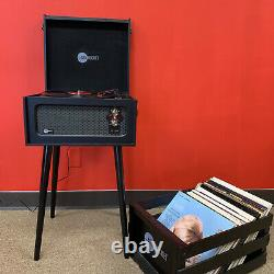 Arkrocket Retro Portable Turntable Bluetooth Record Player And removable legs