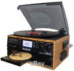 Audio System Stereo Compact Speakers CD Player Record Cassette MP3 Radio Vinyl