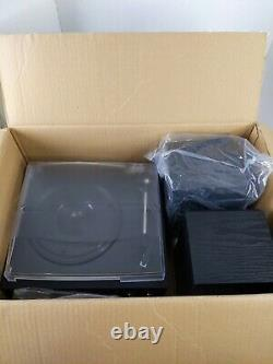 BBluetooth Record Player Turntable Stereo Speaker Vinyl to MP3 CD Cassette Remot