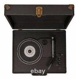 Black 3-Speed Bluetooth Suitcase Turntable Anthology Vintage Record Player