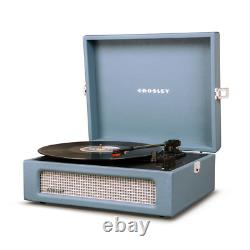 Blue Record Player/Turntable, Vintage Inspired, Bluetooth for Digital Music
