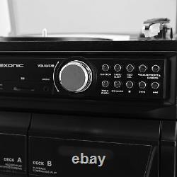Bluetooth Retro Lp 33/45/78 RPM Record CD Player Fm Stereo Radio Receiver System