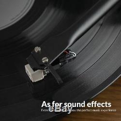 Bluetooth Retro Record Player Vinyl Turntable Audio Technica Cartridge US