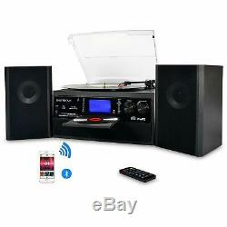 Bluetooth Stereo Speaker Record Player Turntable LP Vinyl to MP3 Converter