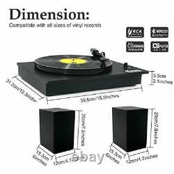 Bluetooth Vinyl Record Player with Powerful External Speakers