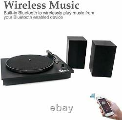 Bluetooth Vinyl Record Player with Powerful External Speakers, NostalgicTurntable