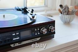 Boytone BT-17DJM-C 3 Speed Turntable Record Player Encode Vinyl, Radio Cassette