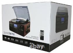 Boytone BT-22C Bluetooth Record Player Turntable AM/FM Cassette speaker