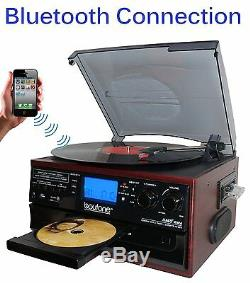 Boytone BT-22C Bluetooth Record Player Turntable Radio Cassette speaker NEW