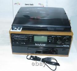 Boytone BT-22W Bluetooth Record Player Turntable AM/FM Cassette CD/MP3/SD/USB
