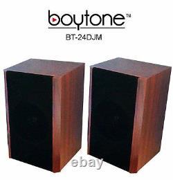 Boytone BT-24DJM Bluetooth Record Player Turntable Stereo System CD Cassette AM/