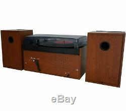 Boytone BT-24MB Bluetooth Record Player Turntable Stereo System CD Cassette FM