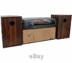 Boytone BT-28MB 3-Speed Bluetooth Turntable, Record Player, CD, cassette, AM, FM