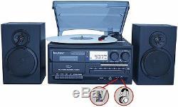 Boytone BT-28SPB Bluetooth Turntable Record Play CD Radio Cassette Encode Vinyl