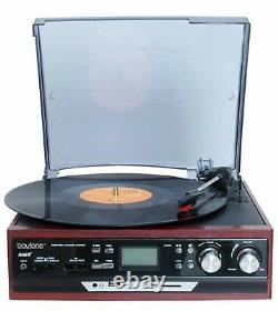 Boytone Turntable Vintage Record Player Home Stereo System Pioneer Stereo New