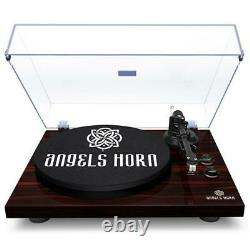 Built-in 2Speed Phono Preamp&Belt Drive Bluetooth Turntable Stereo Record Player