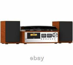 Bush Classic Micro Combo Record Player Wood / Black (A-) + WARRANTY