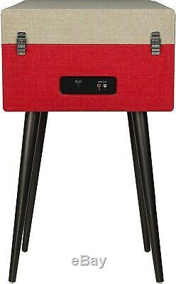CROSLEY CR6233D-RE Dansette Bermuda Deluxe Bluetooth Turntable Red Record Player