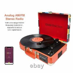 Chargable Briefcase Retro Record Player Bluetooth with speakers for