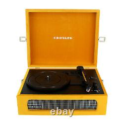 Crosley 3-Speed Record Player Yellow Stereo Turntable Bluetooth Portable Speaker