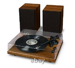 Crosley C62A-WA 2 Speed Bluetooth Turntable Record Player/Speakers Shelf System
