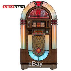 Crosley CR1208A-OA 80 Disc Slimline Bluetooth Full-Size Jukebox Record Player