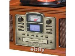 Crosley CR2405D-PA Director CD Recorder Cassette 3-Speed Turntable Bluetooth NOB