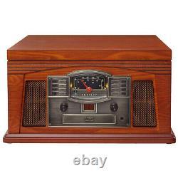Crosley CR42D-PA Lancaster Entertainment Center Bluetooth Record Player Paprika