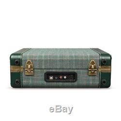 Crosley CR6019D-PNE Executive Portable USB Turntable Record Player Pine Green