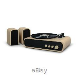 Crosley CR6035A-NA GIG Bluetooth Record Player Turntable Natural with Speakers