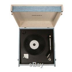 Crosley CR6233D-TN BERMUDA 2-Speed Bluetooth Turntable Record Player Tourmaline