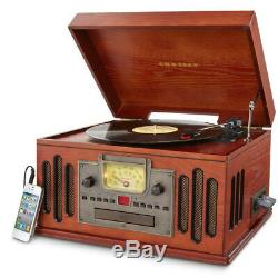 Crosley CR704D-PA Musician Deluxe 3 Speed Turntable Record Player with Bluetooth