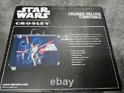 Crosley Cruiser Deluxe Star Wars Limited Edition Turntable Record Player, CIB