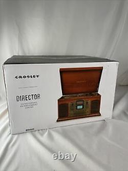 Crosley Director CD Recorder Turntable Cassette CR2405A Paprika New Open Box
