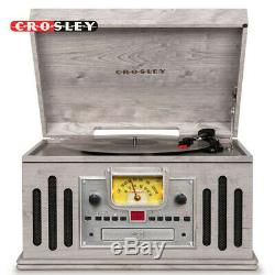 Crosley Musician Entertainment Center Bluetooth 3-Speed Record Player Gray