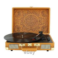 Crosley Record Player Medal Brown 3-Speed Portable Turntable Bluetooth Speakers