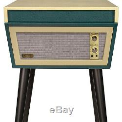 Crosley STERLING CR6231D-GR 2 Speed Turntable Record Player GREEN/CREAM with Stand