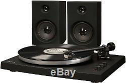 Crosley T150A-BK T150 2 Speed Bluetooth Record Player Turntable withSpeakers Black