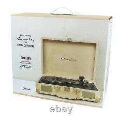 Crosley Velvet 3-Speed Stereo Turntable Record Player Bluetooth Speaker Portable